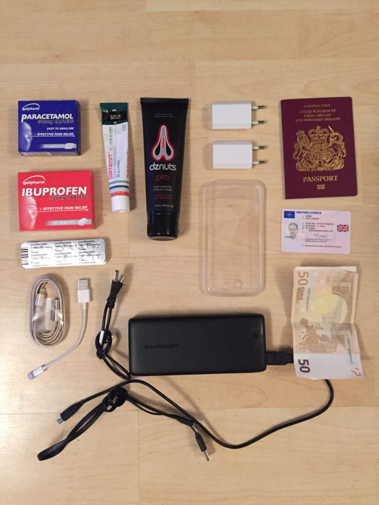 Contents of Apidura Accessory pack