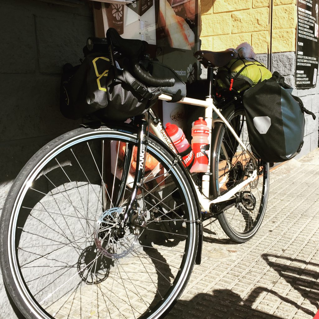 Condor Heritage fully loaded with Ortlieb panniers and Apidura bags Ideal for bicycle touring