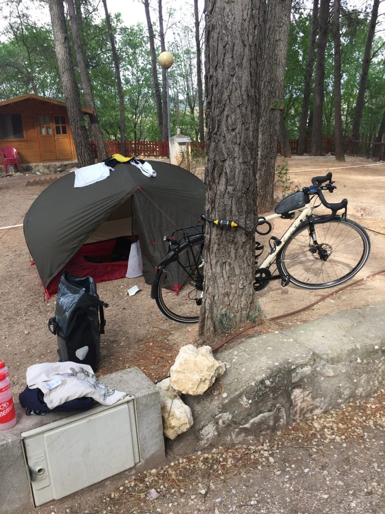 MSR Hubba Hubba tent ideal for bicycle touring