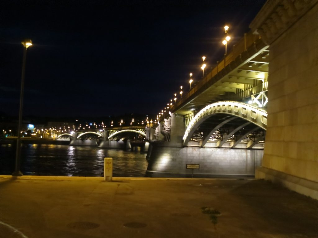 Bridge at night Budapest Cycling Danube