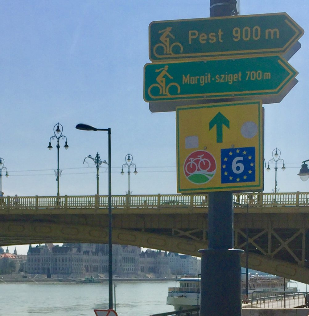 Well sign posted Cycle Danube Eurovelo6