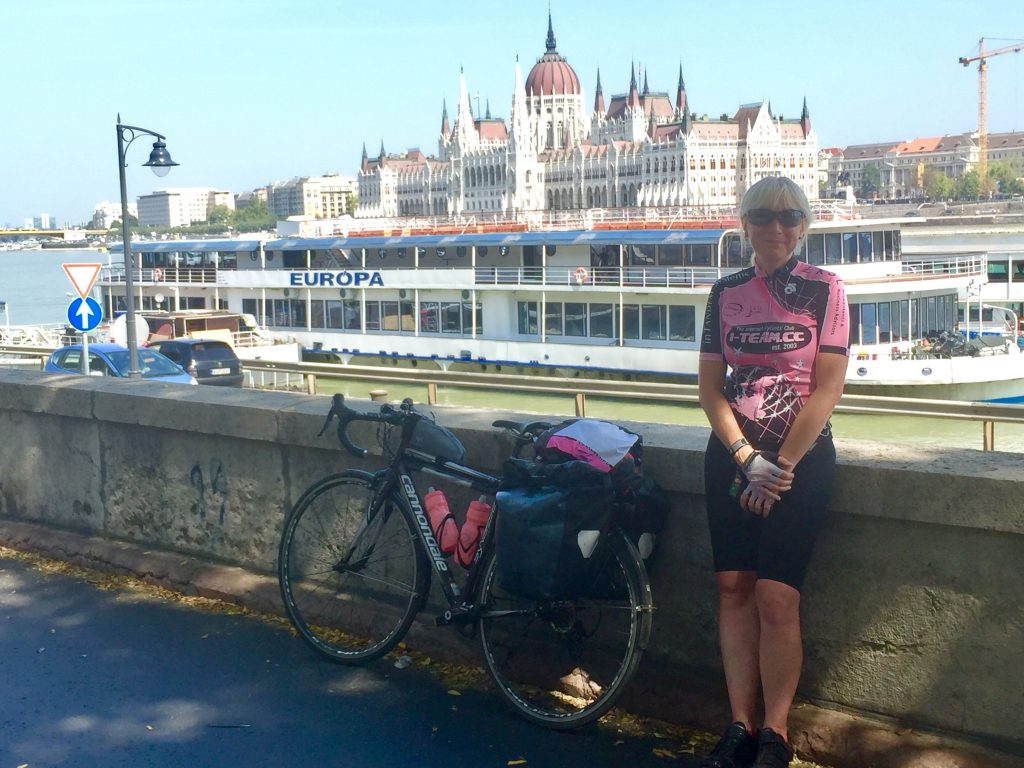 Budapest section of Danube cycling Eurovelo6
