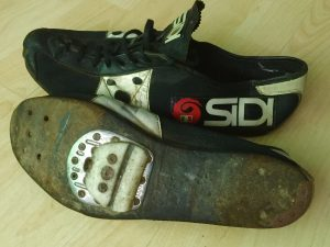 Cleats of my favourite racing sidi shoes they still fit perfectly and are comfortable