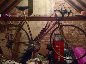 My old Bob Jackson in my loft either I have shrunk or we used to have our saddles a lot lower back in the day