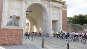 Cycling through the Menin Gate Ypres