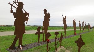 Memorials on the road to Passchendaele