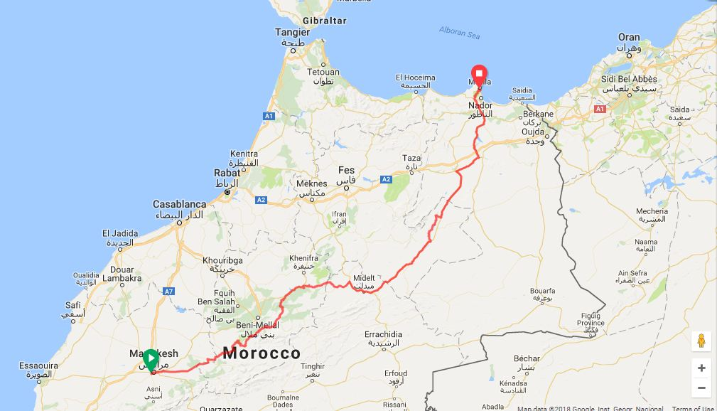 Marrakesh-Murcia by bicycle